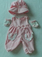 Adorable 5-Piece Baby Doll Playtime Outfit