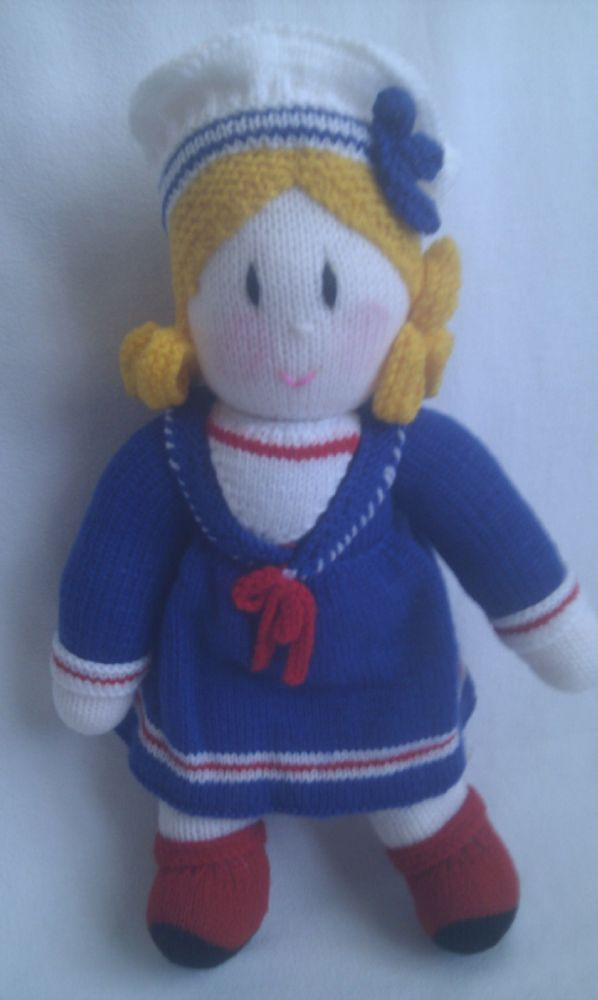 Knitting Pattern Toy Story Characters : Adorable Big Sailor Girl Hand Knitted Doll