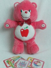 Adorable Big 'Smart Heart' Magic Guessing Game Care Bear Plush Toy