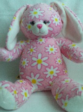 Rare Adorable Big 'Flowers' Bunny Build-a-Bear Plush Bear