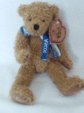 Rare 'Ascot' Jointed Plush Collectable Teddy Bear