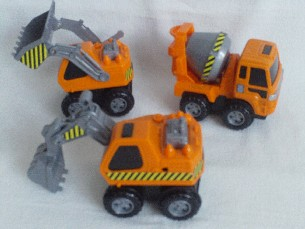 Adorable 1st Chunky 'Builders Playtime Push Along Trucks' Playset