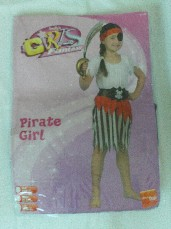 Adorable 4-Piece 'Ship Ahoy Pirate' Girls Fancy Dress Outfit in Packet 5-8 years
