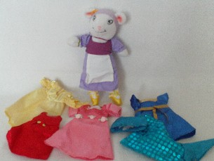 Adorable 'Angelina Ballerina Plush Doll & Clothes' Playset
