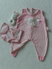 Adorable 'Baby Annabell' 2-Piece Daytime Outfit with Cute Rattle Toy