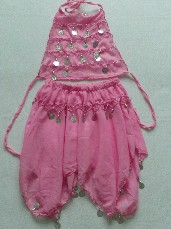 Adorable 'Belly Dancer' 2-Piece Fancy Dress Outfit 5-6 Years