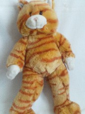 Adorable Big 'Meowing' Build-a-Bear Tabby Plush Cat Plush Toy