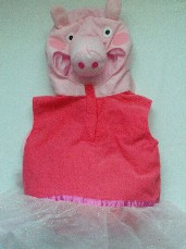 Adorable Deluxe 'Princess Peppa Pig' Toddler Fancy Dress 3-5 Years