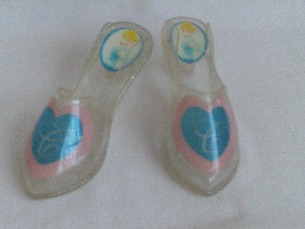 Adorable Disney Princess 'Cinderella' Glittery Toddler Dress Up Shoes