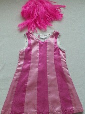 Adorable Lazytown Dance with 'Stephanie' 4-Piece Fancy Dress Outfit with Accessories  3-4 years