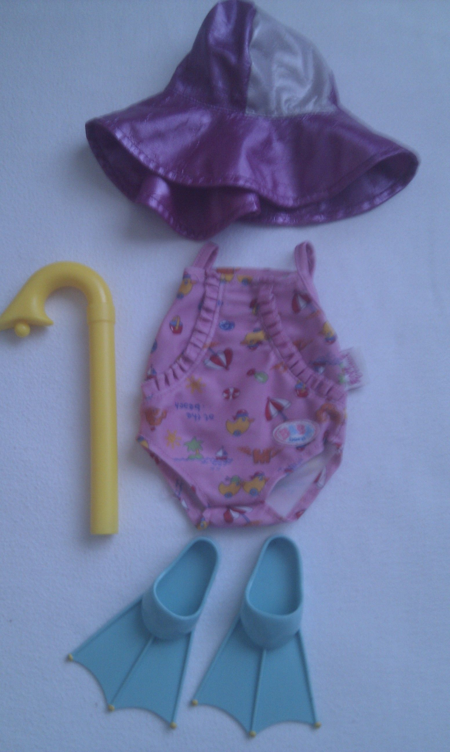 Adorable My 1st Baby Born Beach Swimming Baby Doll 5 Piece Outfit