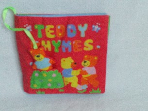 Adorable My 1st Baby 'Teddy Rhymes' Plush Book