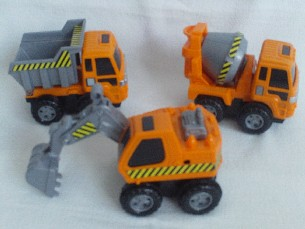 Adorable My 1st Chunky 'Builders Playtime Push Along Trucks' Playset