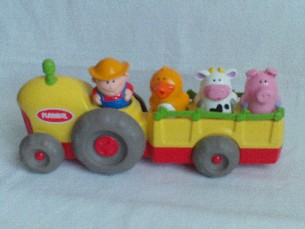 Adorable My 1st Playskool Musical Push Along 'Old McDonald' Tractor + Animals