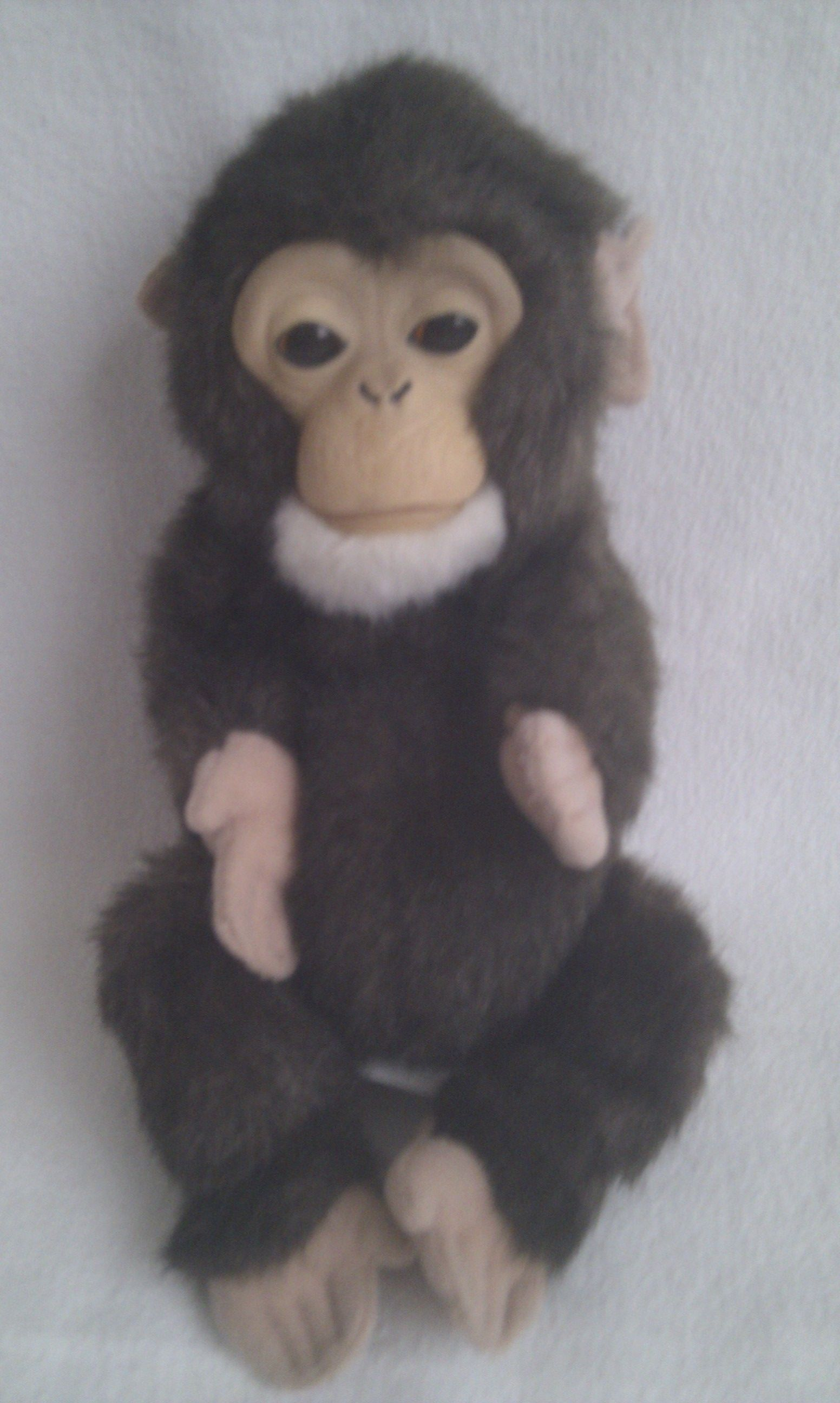 Adorable Newborn Baby Chimp Fur Real Monkey Plush Toy Makes