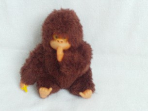 Adorable Rare Vintage 'Cheeky Monkey' Plush Toy 'Sucks his Banana & Thumb'