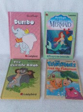 Adorable Set of Four 'Disney Movie & Ladybird' Bedtime Picture H/B Story Books