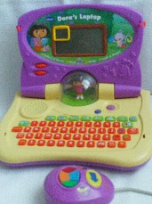 Adorable Vtech 'Dora the Explorer Laptop' + Mouse Educational Toy