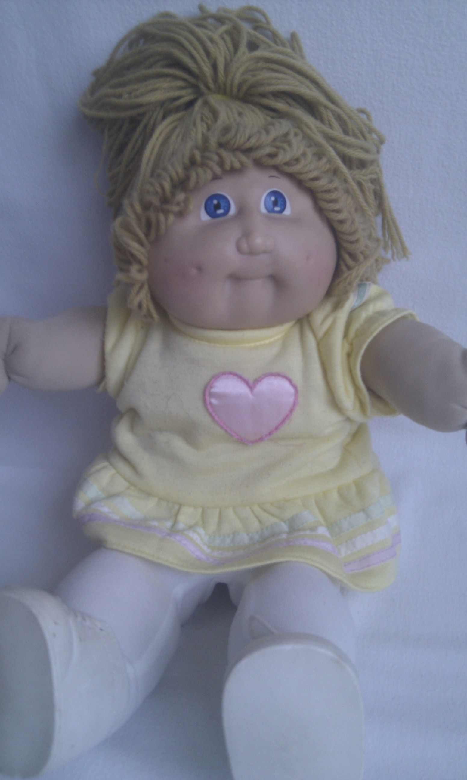 Rare Play Time Cabbage Patch 1982 Soft Signed Plush Doll